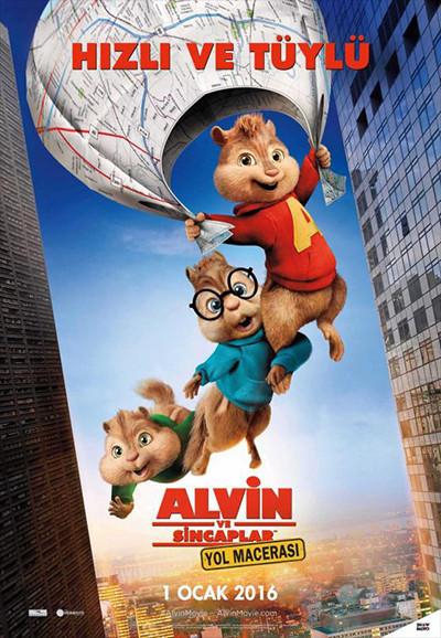 Alvin ve Sincaplar: Yol Macerası - Alvin and the Chipmunks: The Road Chip | 2015 | BRRip XviD | Türkçe Dublaj - Tek Link