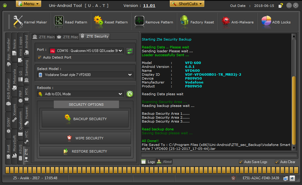Vodafone Smart style 7 VFD600 IMEI Repair Done!![SUCCESS REPORT