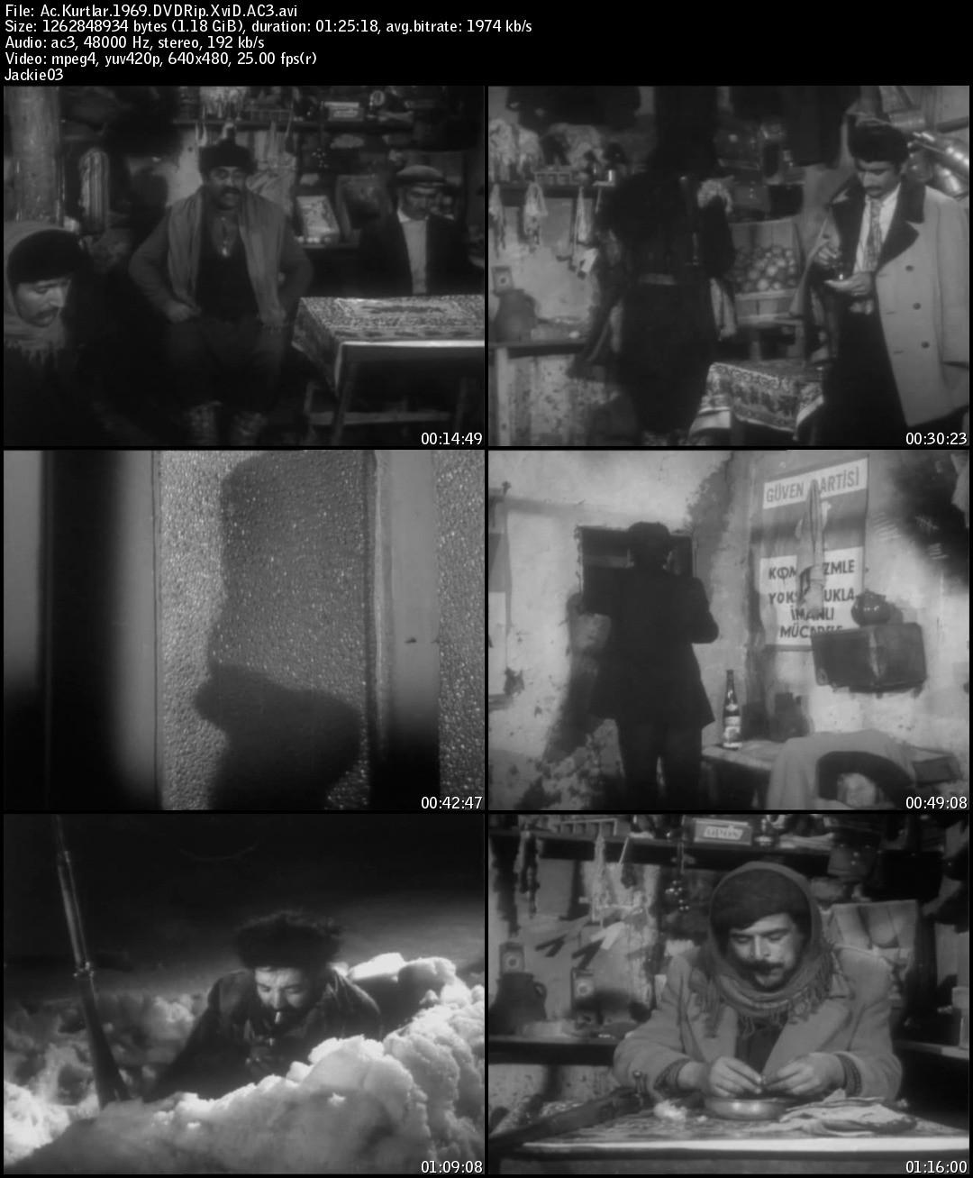 Aç Kurtlar (1969) DVDRip Tek Link