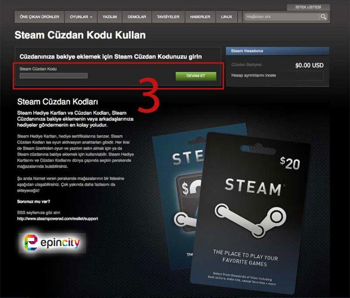 steam cüzdan kodu nasıl yüklerim