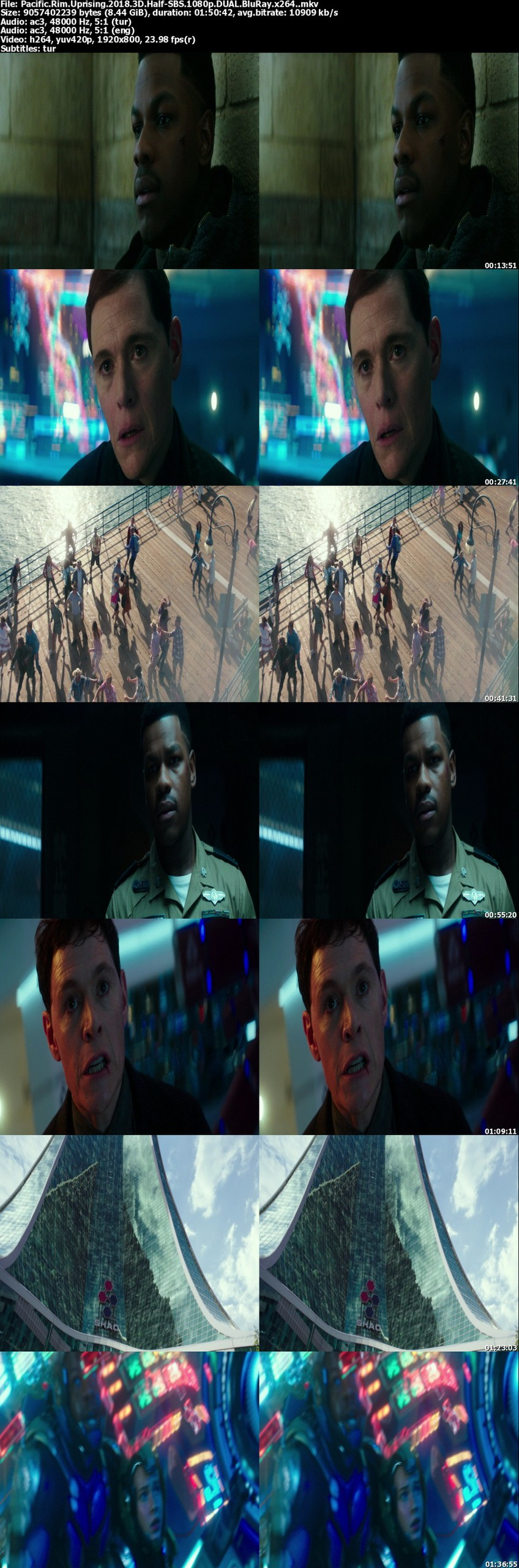Pasifik Savaşı: İsyan - 2018 | 3D Half-SBS - 1080p BluRay - DUAL (TR-EN)
