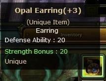 +3 Opal Earring