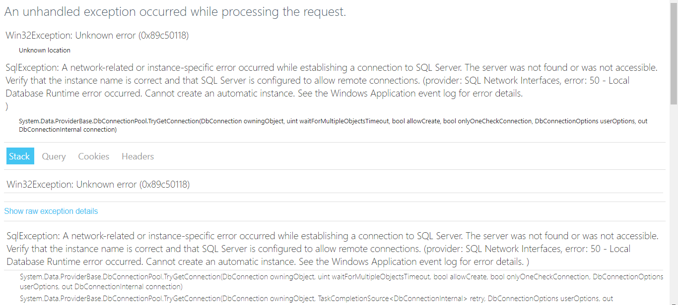 error html page