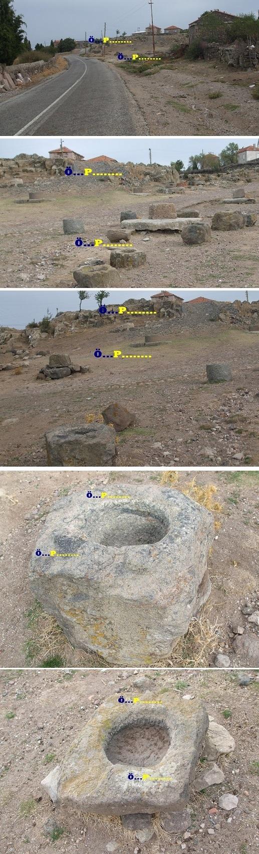 Kuyular hayvan sulama taşları görseldir