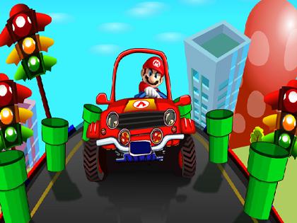 Mario Trafik Kontrol Oyunu