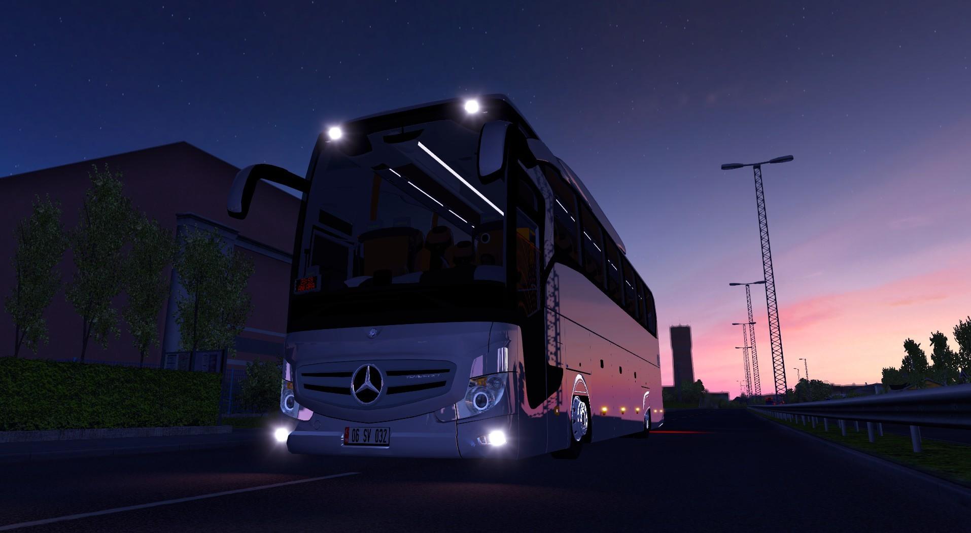 otobÜs - ets 2 mercedes-benz yeni travego 2016 v2 otobüsü