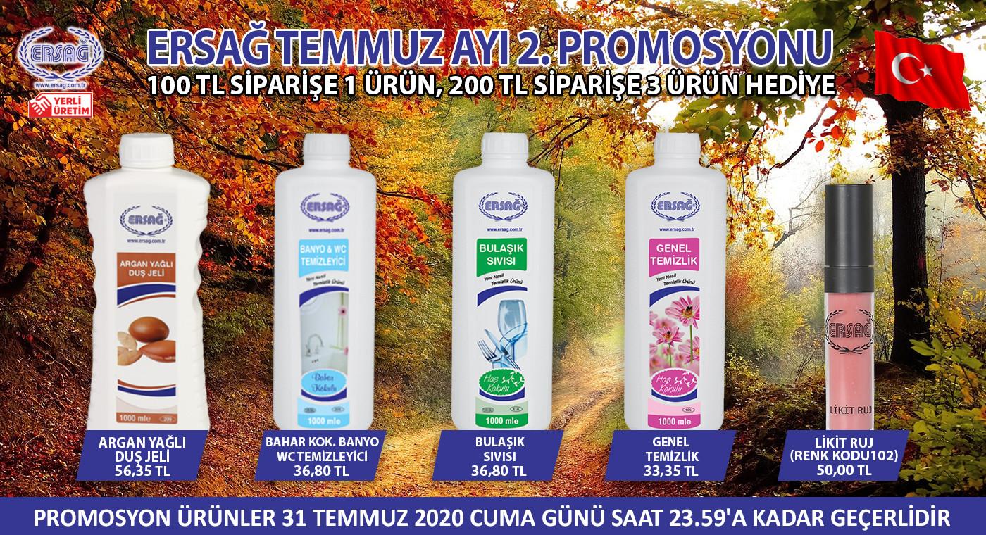 Ersağ Türkiye Temmuz Ayı 2. Dönem Promosyonları 2020