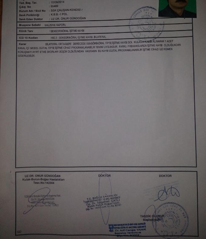 dq43AL - İşitme testinden özür oranı hesaplanması