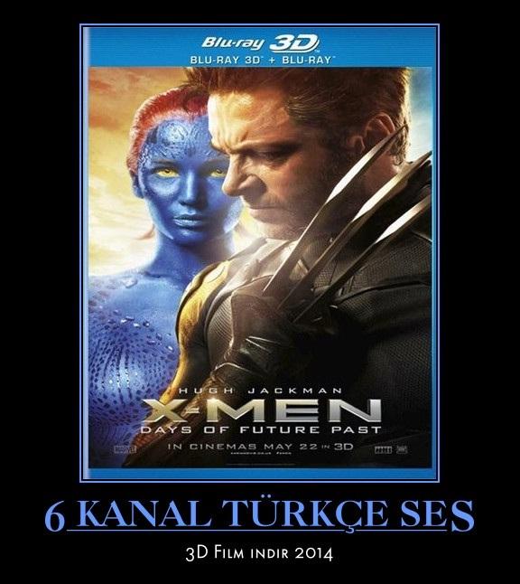 X-Men: Geçmiş Günler Gelecek – 2014 (TR/ENG) 3D FiLM iNDiR