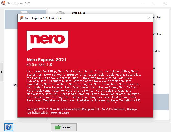 Nero Lite 2021 23.0.1.8 | Katılımsız