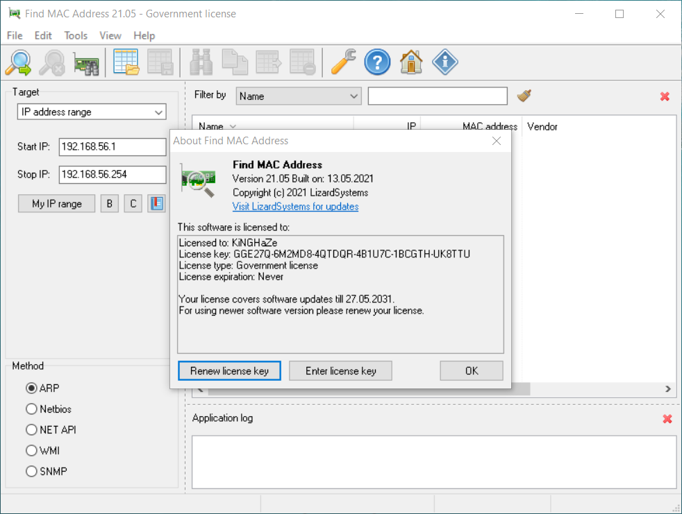 LizardSystems Find MAC Address 21.05   Katılımsız
