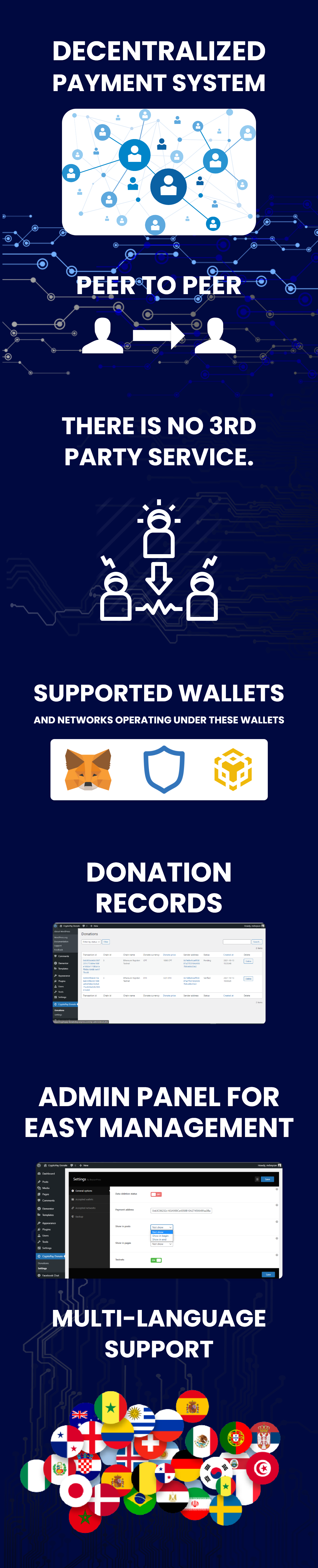 CryptoPay Donate - Cryptocurrency donate plugin for WordPress - 2