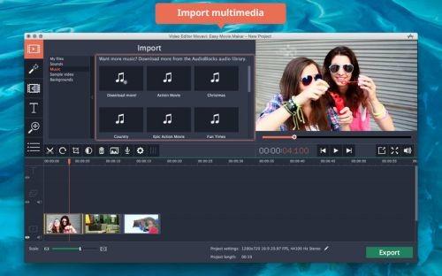 Movavi Video Editor 4.0 - MacOSX