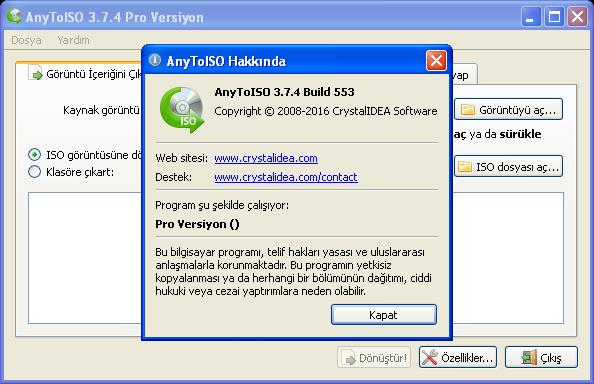 AnyToISO Professional 3.7.4 Build 553 | Katılımsız