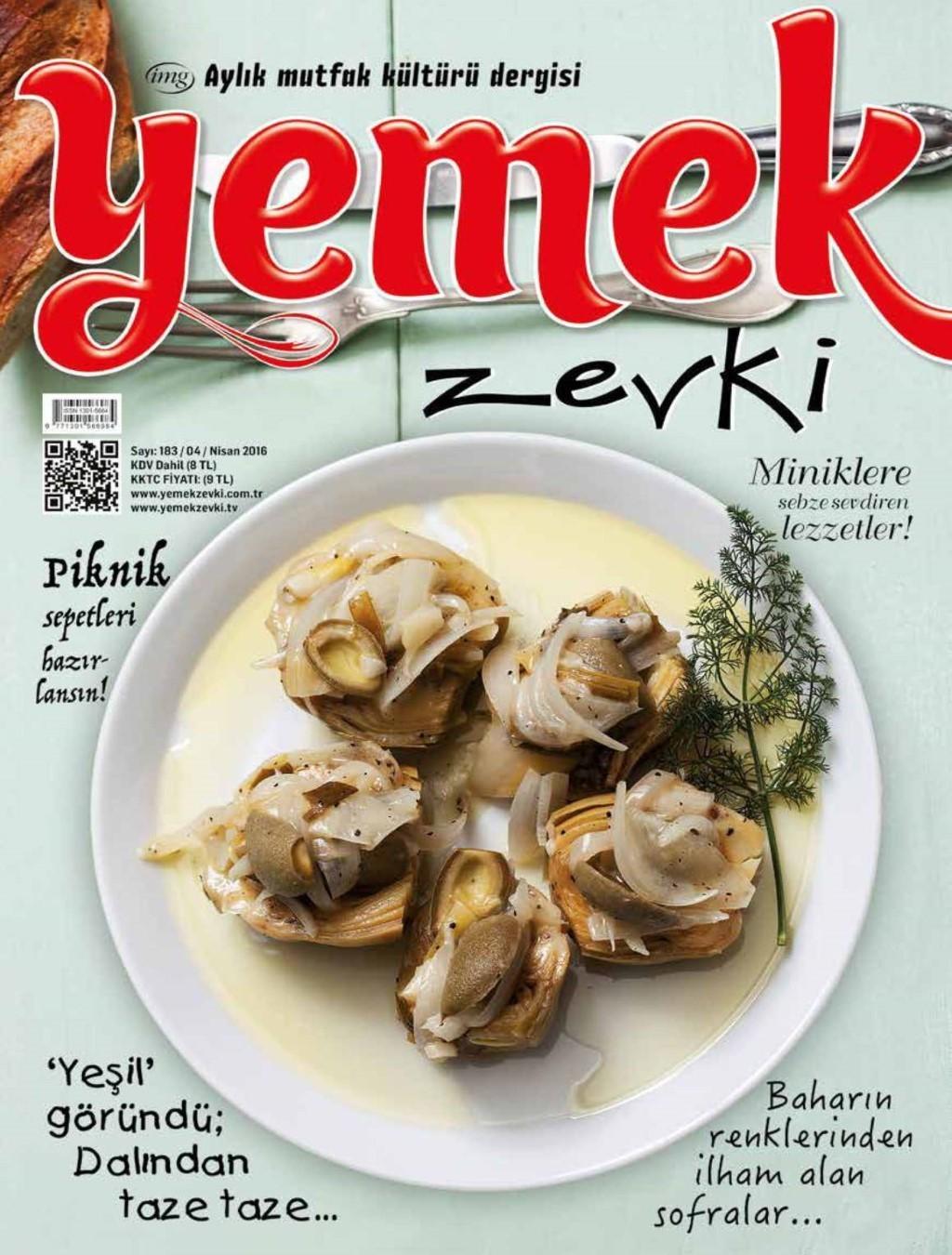 Yemek Zevki Nisan 2016 PDF Dergi indir