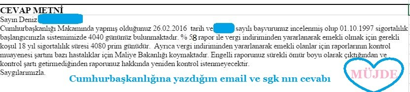 g8y9nQ - S�rekli vergi indirimi ile emeklilikte kontrol istenememesine dair Cumhurba�kanl���