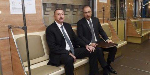 İlham Əliyev Bakı metrosunda