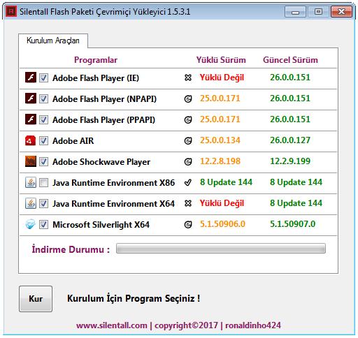 Silentall Flash Paketi Çevrimiçi Yükleyici 1.5.4