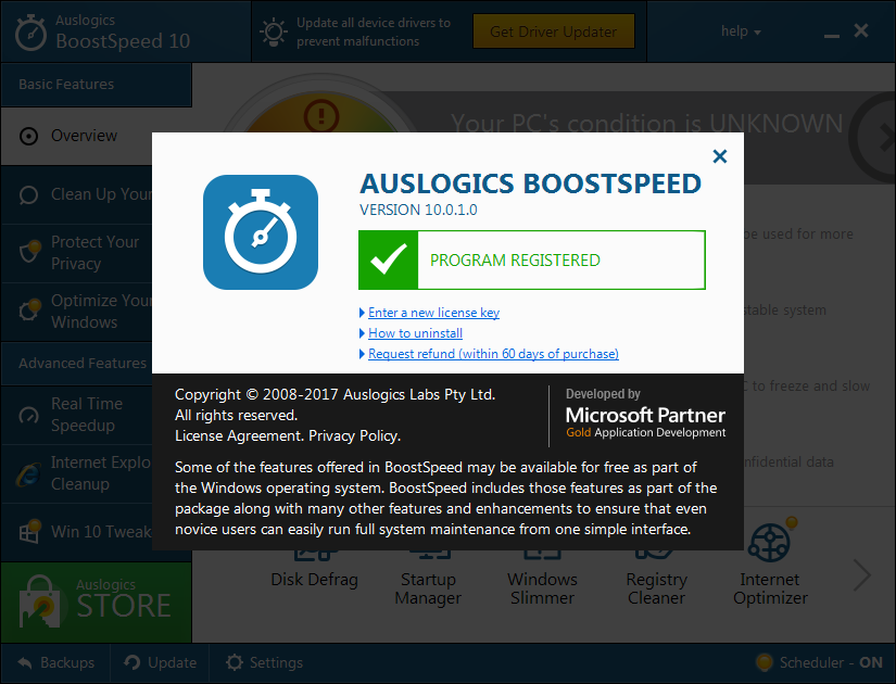 Auslogics BoostSpeed Premium 10.0.4.0 | Katılımsız