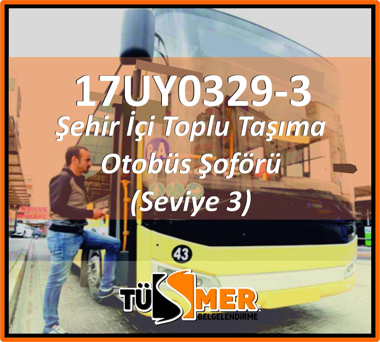 17UY0329-3 Şehir İçi Toplu Taşıma Otobüs Şoförü