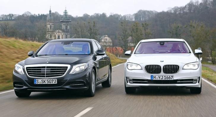 BMW 750i ve Mercedes S 500 kapışması