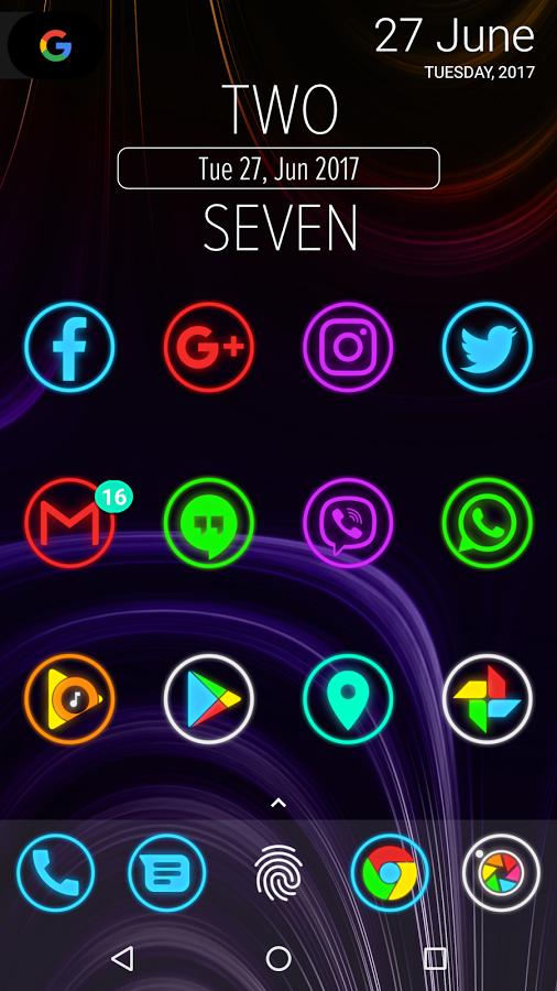 Neon Glow Rings – Icon Pack Apk v1.4.0 – Full İndir