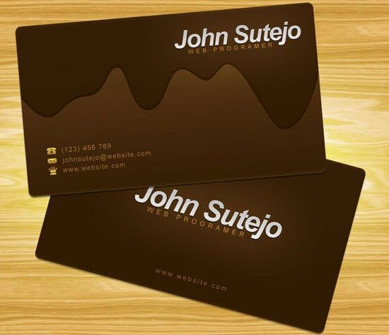 Black Crystals Business Card Design, Two Sided Template