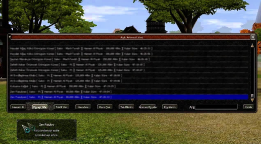 Metin2 Servere Açık Artırma Sistemi Ekleme
