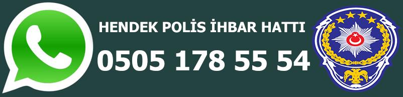Hendek WhatsApp Polis İhbar Hattı
