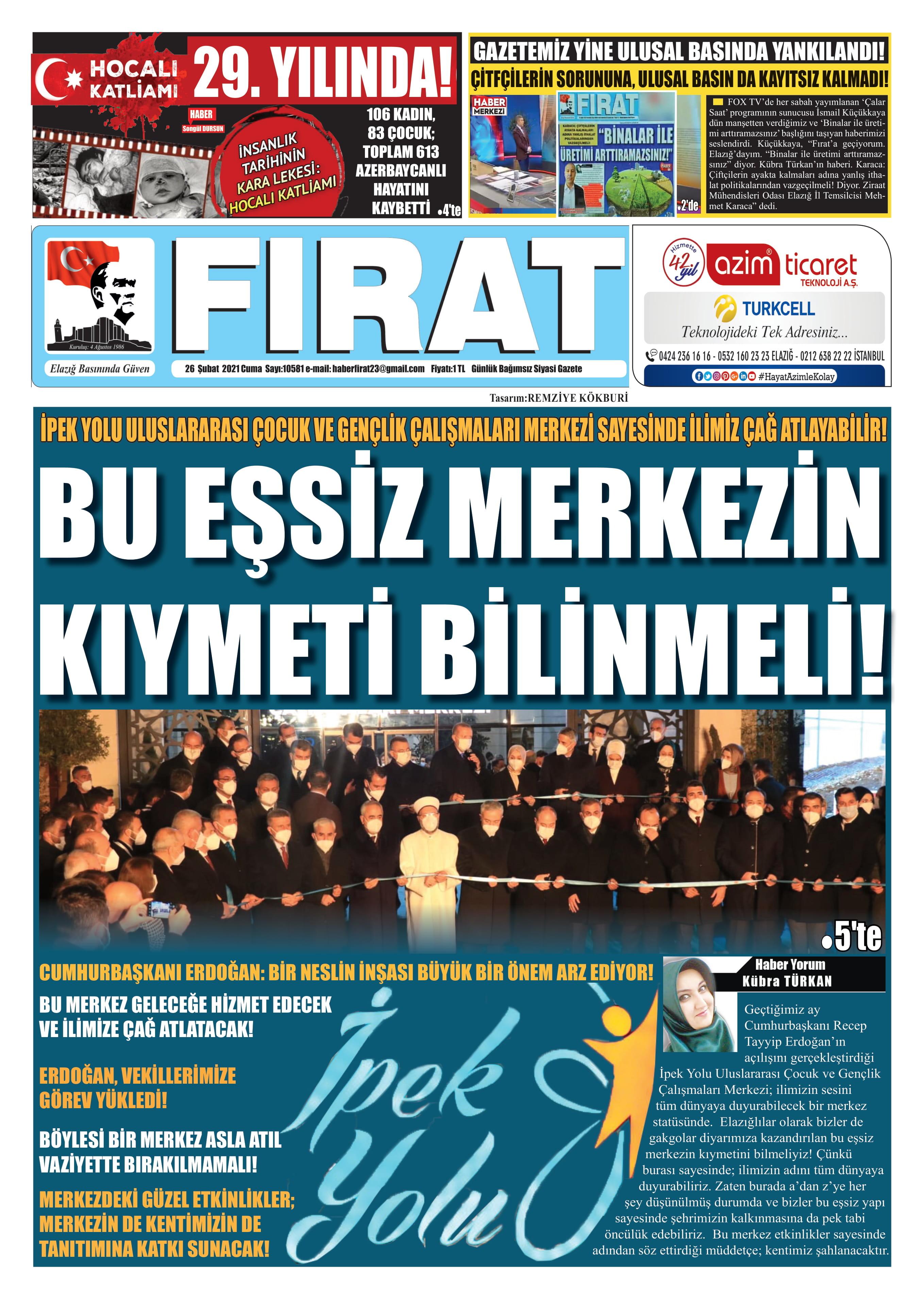 Elazığ Fırat Gazetesi
