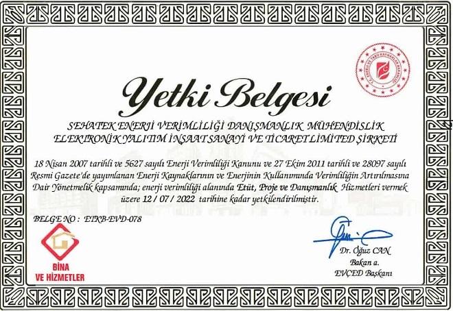 Enerji verimliliği sertifikası