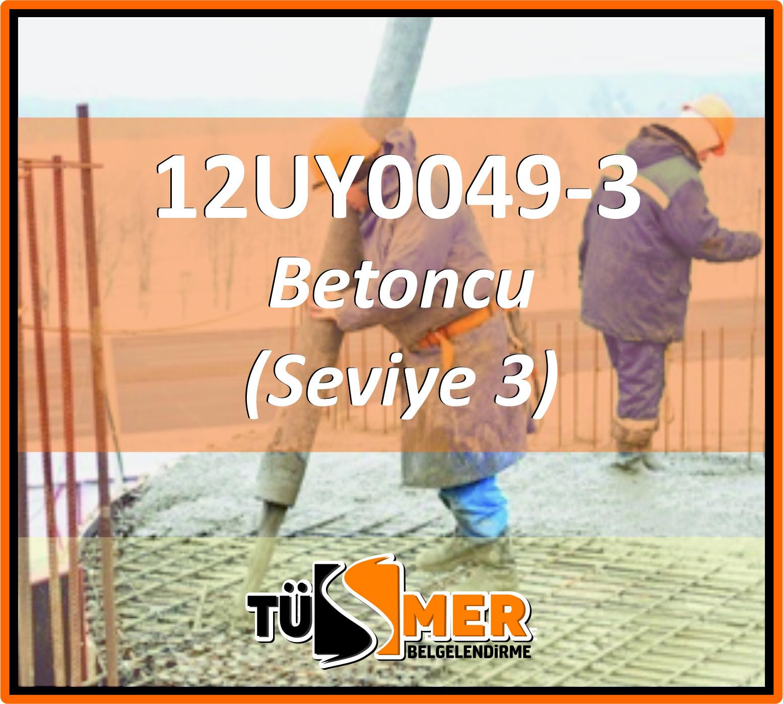 12UY0049-3 Betoncu (Seviye 3)