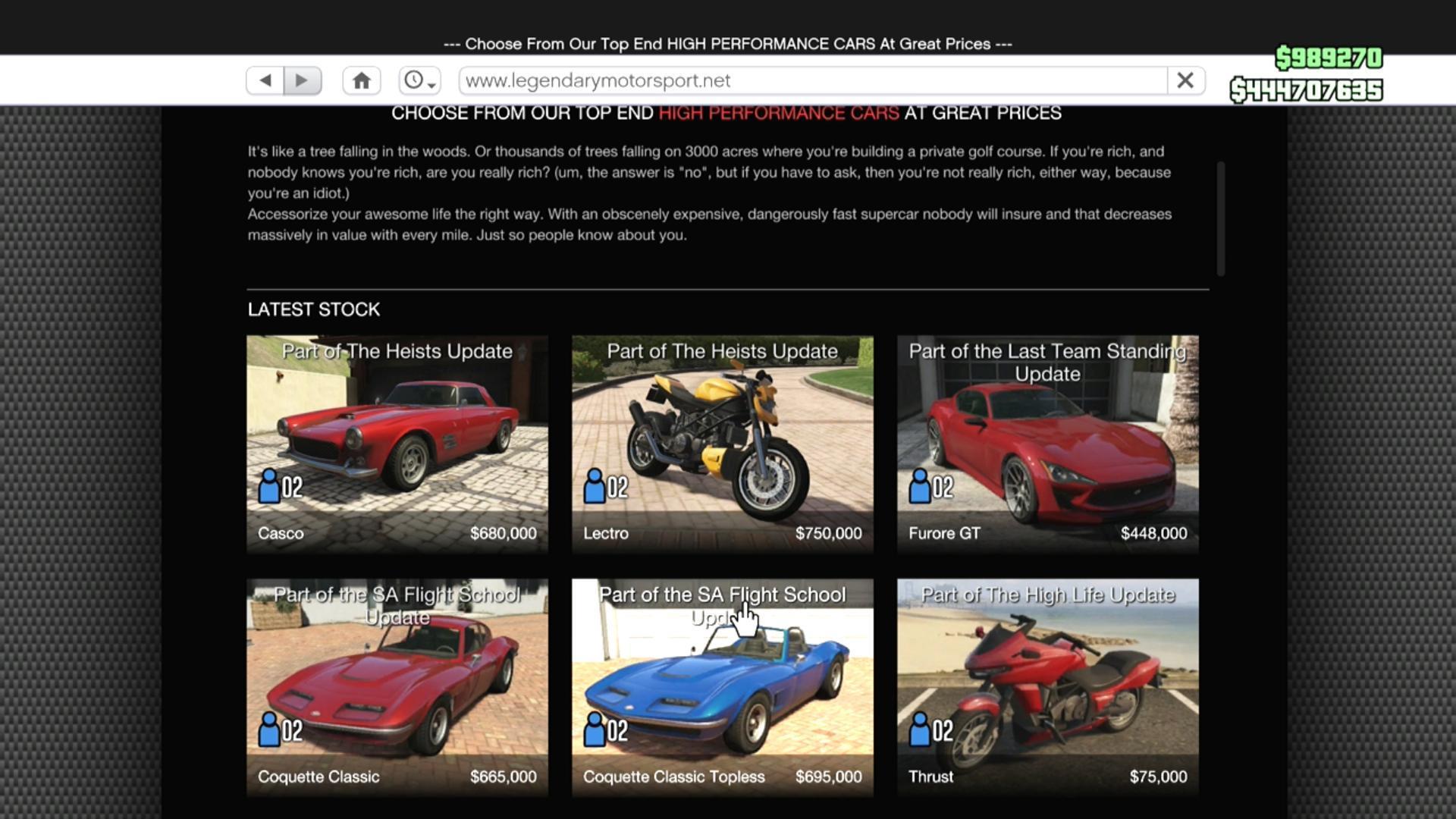 gta 5 online car costs