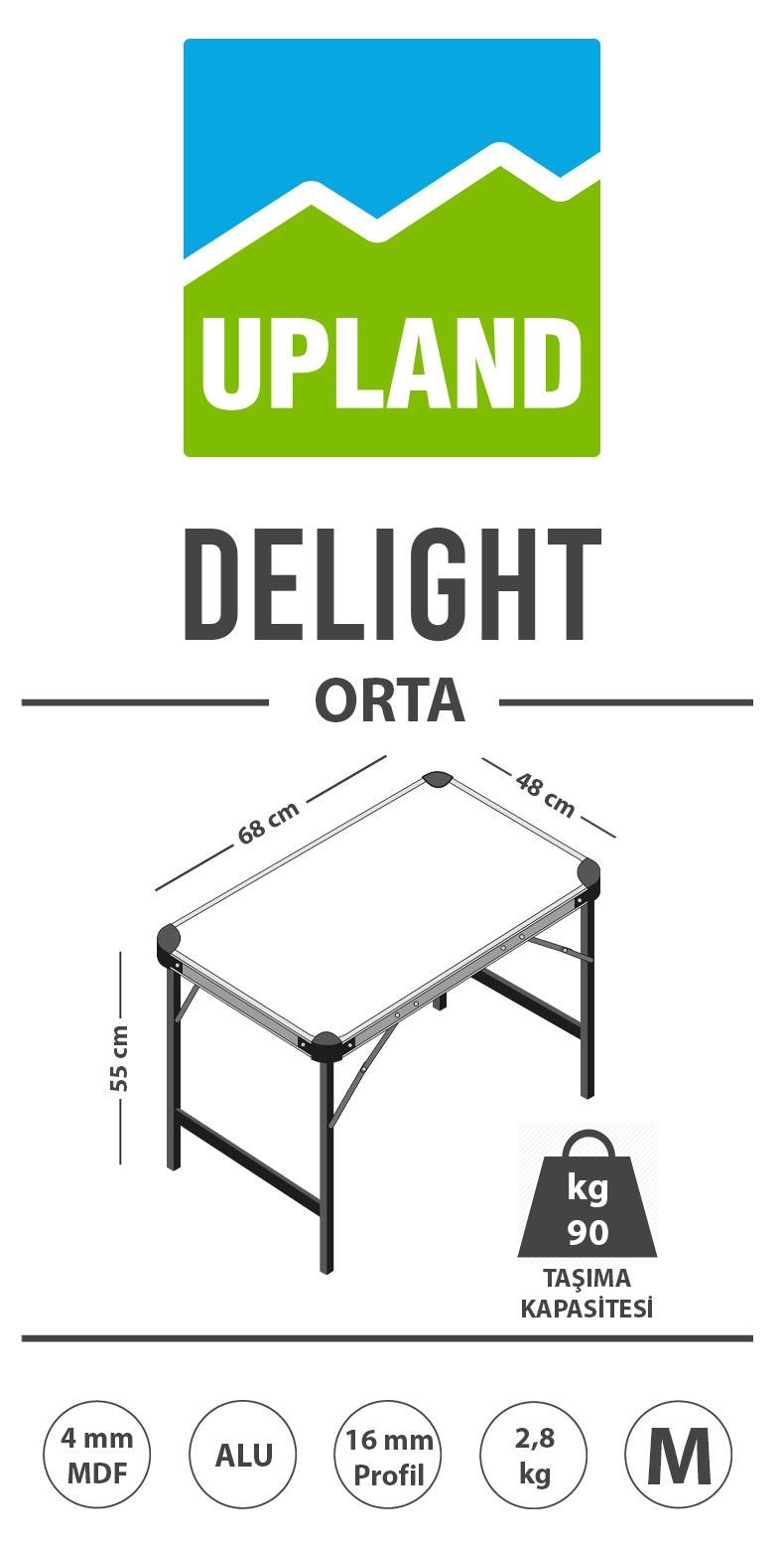 upland delight katlanır orta boy masa ürün açıklama resmi