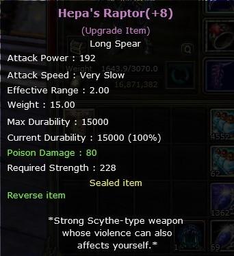 +8 No Reb Hepa Raptor CHYPER