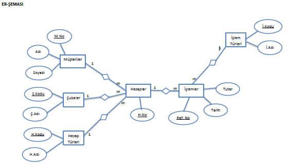 er şeması, diyagram, normalizayon, şeması, örneği, uygulama