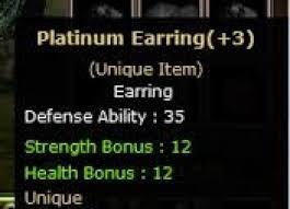 +3 Platinum Earring