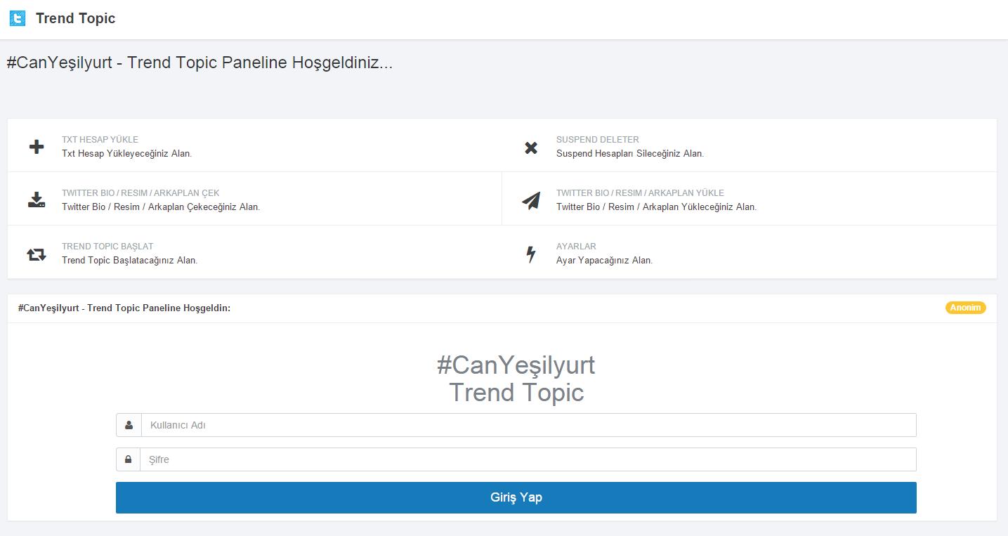 Twitter Trend Topic Scripti