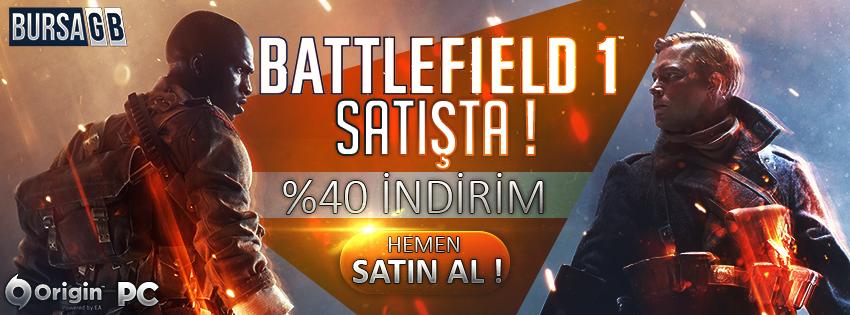 Battlefield 1 Çıktı ! Hemen %40 İndirimli Battlefield 1 Origin Cd Key Satın al