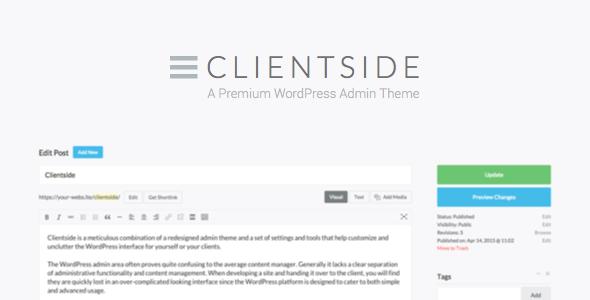 Clientside v1.9.6 - WordPress Admin Theme Full İndir