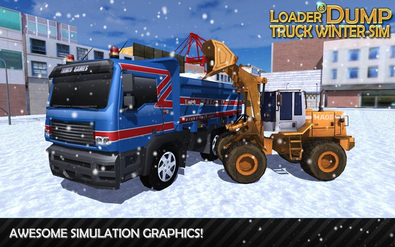 Loader & Dump Truck Winter SIM Apk