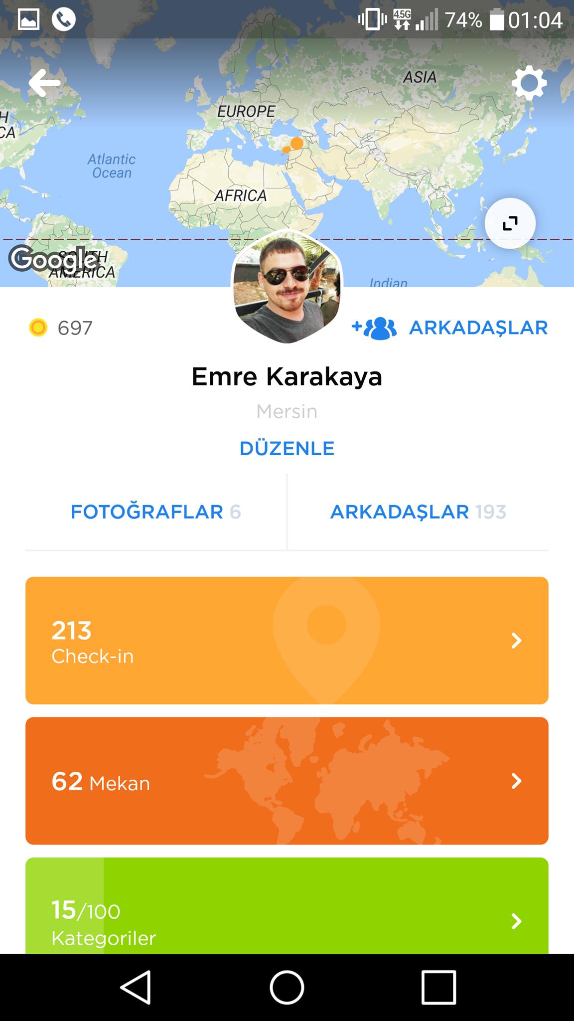 Swarm Profil Ekranı