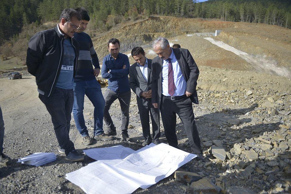 DSİ Bölge Müdürü Baysal, Gökgöz Göleti Çalışmalarını İnceledi