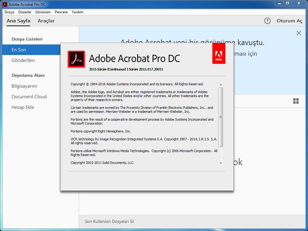 Adobe Acrobat Pro DC 2015.017.20053 Final | Katılımsız