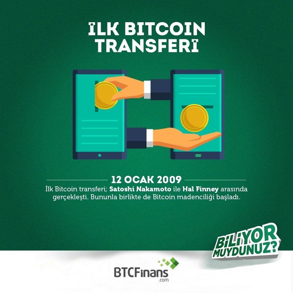 İlk Bitcoin Transferi