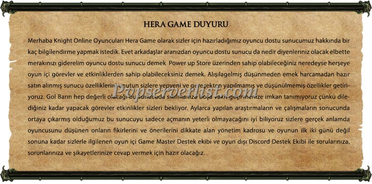 Hera Game – Farm Server