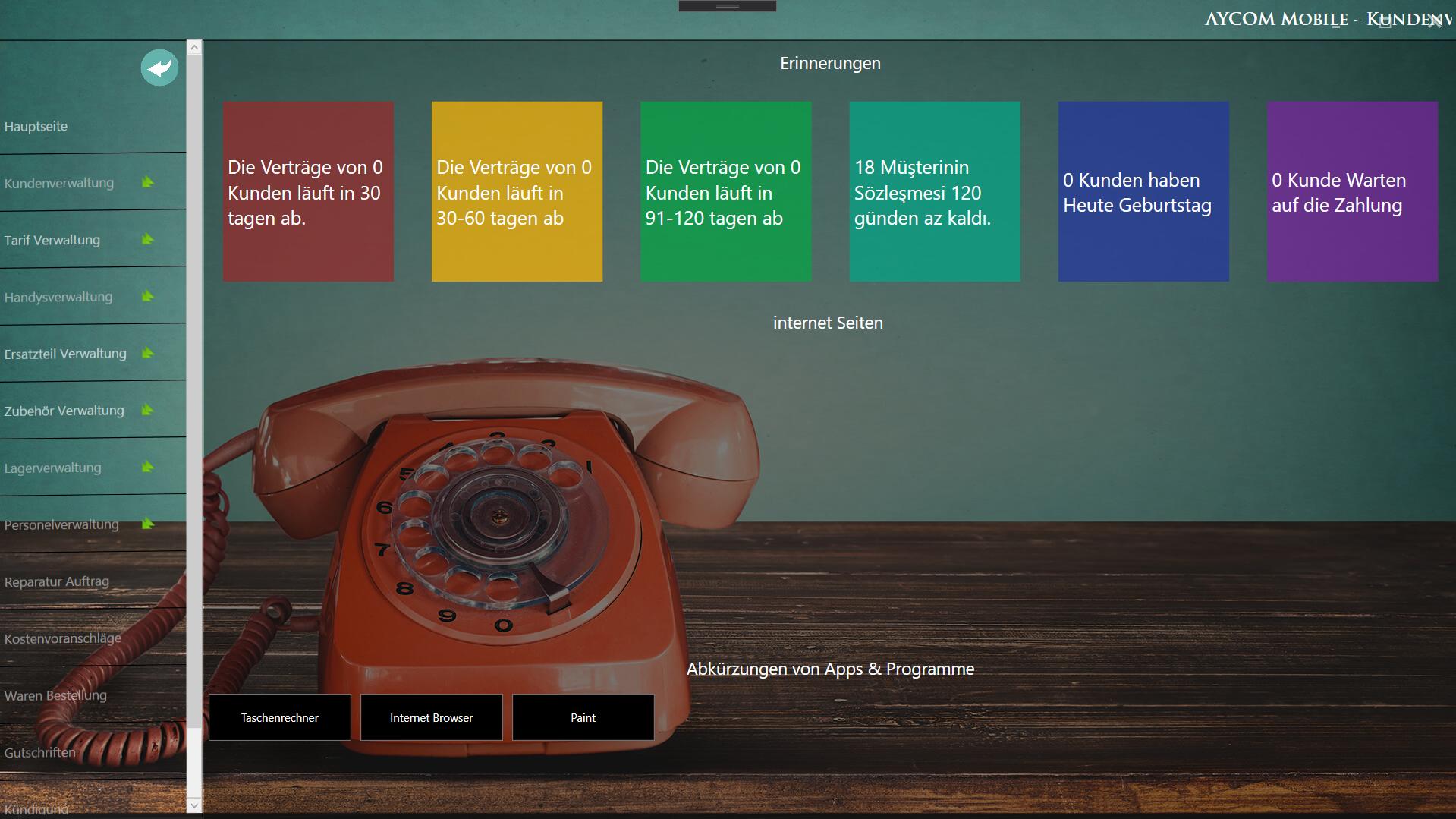 Telekom Müşteri Takip Projesine Ait Görsel