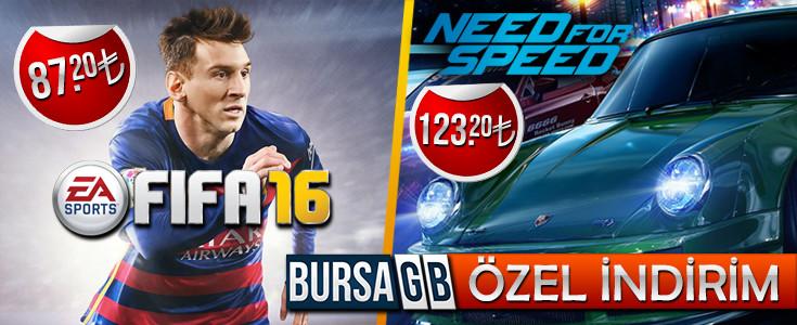 İndirimli Fifa 16 ve Need For Speed Satın Al
