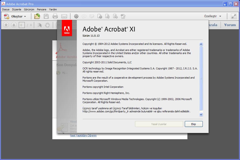 Adobe Acrobat XI Pro 11.0.13 TR | Katılımsız