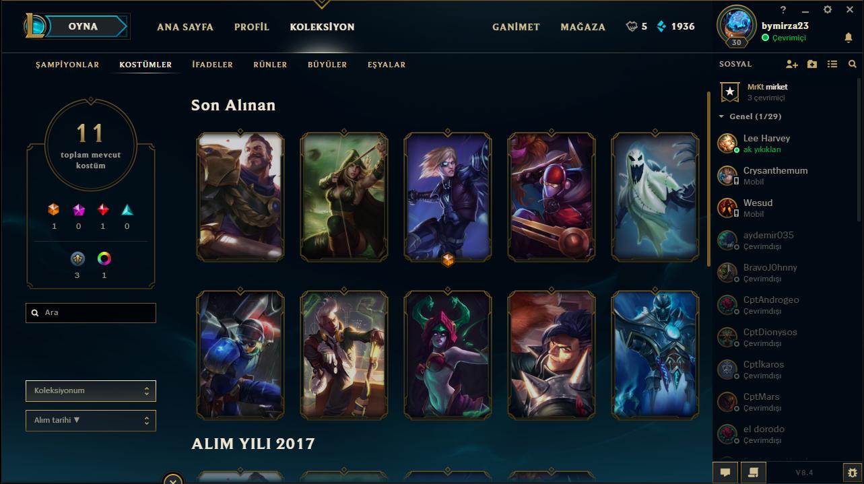 League of Legend Satılık Unranked Hesap - Türkiye (TR)